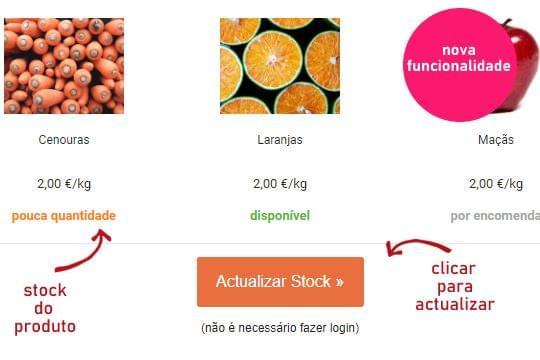Gerir Stocks dos produtos agrícolas por email (nova funcionalidade).