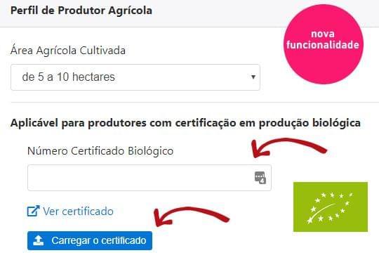 Como associar ao perfil de produtor o certificado biológico