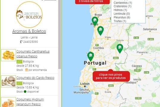 Nova funcionalidade: Mapa dos Produtos e Produtores