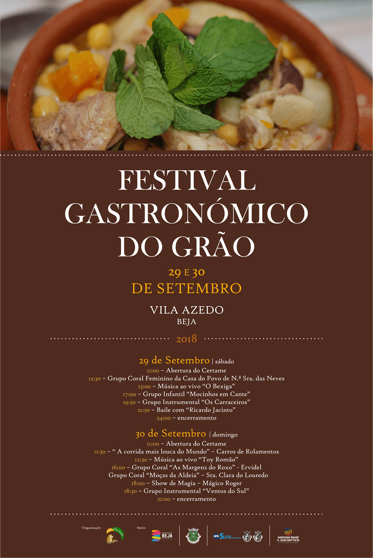 Cartaz do festiva do Grão 2018