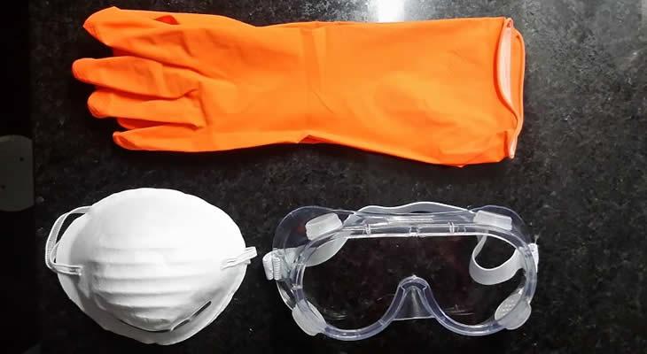 Como fazer sabão caseiro - equipamento de proteção.