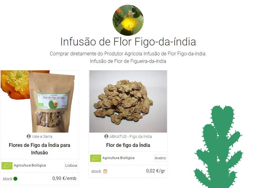 comprar chá de flor de figueira da índia | Reforma Agrária