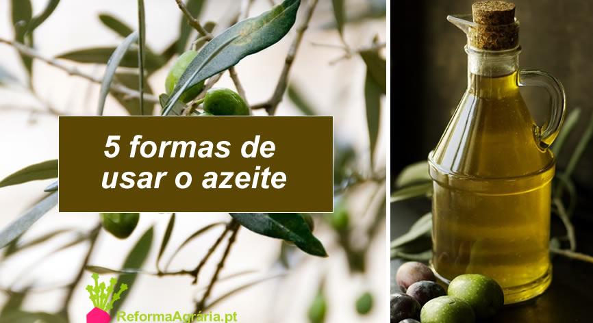 Cinco formas de usar o azeite | Reforma Agrária