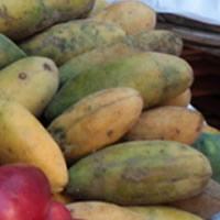 Maracujás-banana frescas