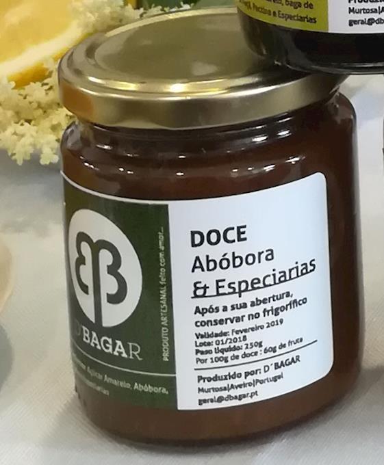 Doce de Abóbora e Especiarias, 250g