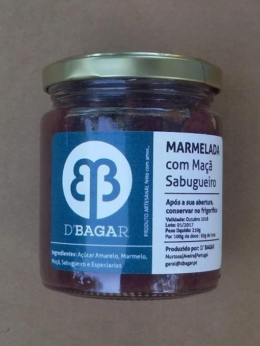 Marmelada de Maçã e Sabugueiro, 250g