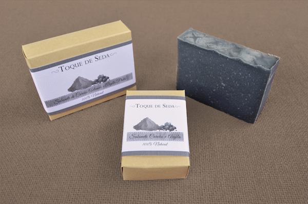 Sabonete de Carvão Activado e Argila Preta 60gr 100% Natural