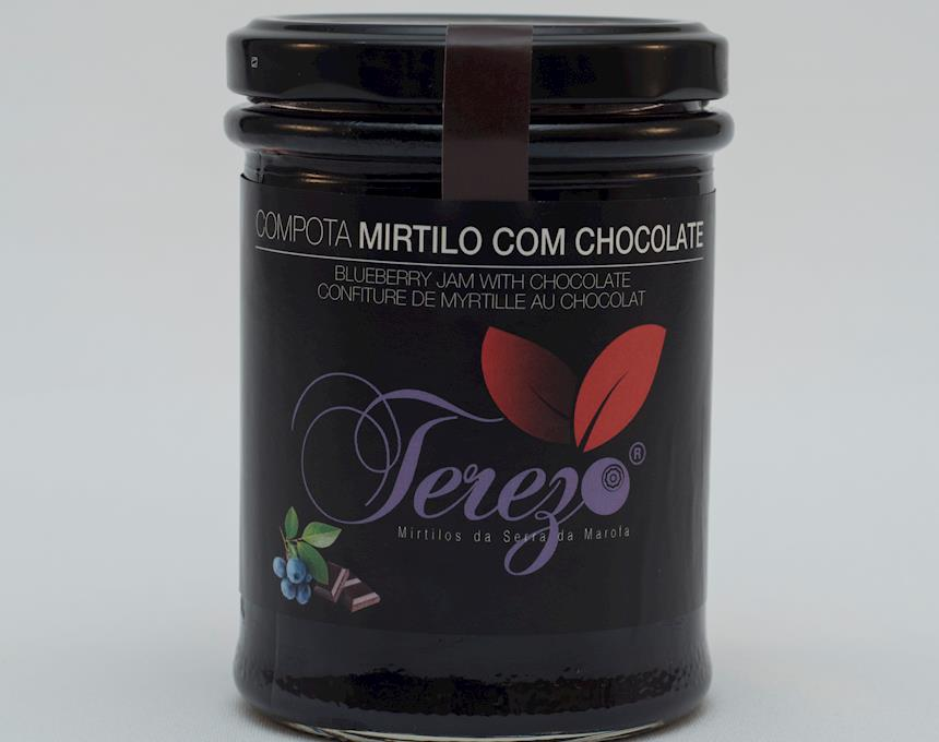 Compota de Mirtilo com Chocolate