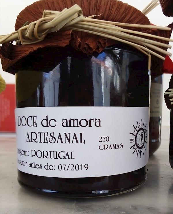 Doce de Amora Caseiro 100% natural, frasco 270 gramas