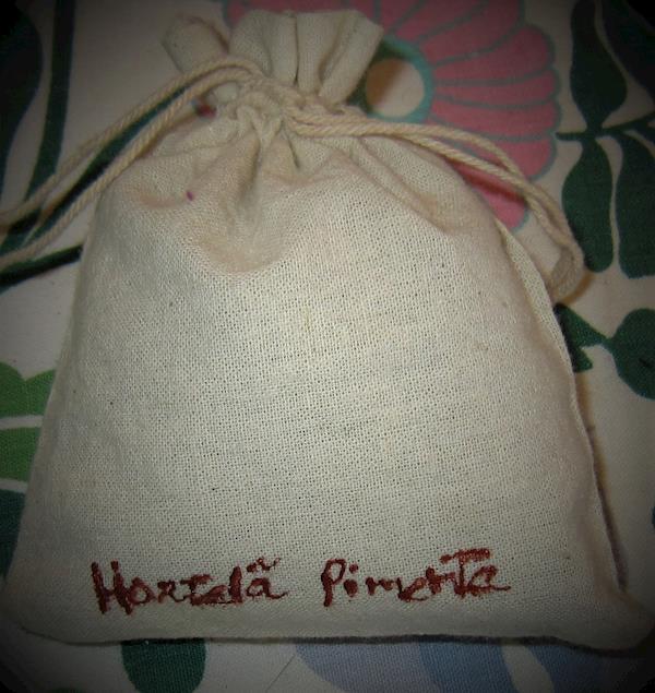 Saquinhos de linho com Hortelã-pimenta artesanais, saq. de 10 g