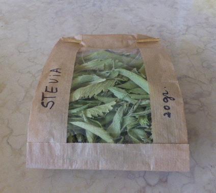 Saqueta de Stevia seca