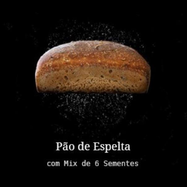 Pão Artesanal de Espelta com 6 Sementes 500g