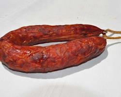 Chouriço de Porco Preto,  peso aprox. 350g
