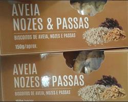 Biscoitos de Aveia, Nozes e Uvas Passas