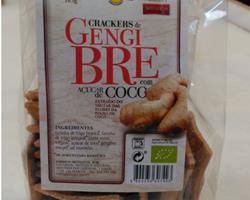 Crackers Bio de Gengibre com Açúcar de Côco, 165g