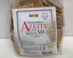 Crackers Bio com Azeite e Sésamo, 165g