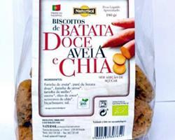 Biscoitos Bio de Batata Doce, Aveia e Chia, 180g