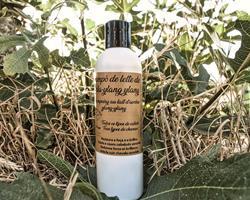 """""""O ylang ylang """" BIO (250ml) Champô líquido com leite de aveia e óleo essencial de ylang-ylang."""
