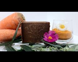 """"""" le regenerateur """" Sabão de cenoura e curcuma bio (100gr)"""