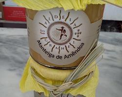 Manteiga de Amêndoa 100% natural, frasco 270 gramas