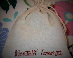 Saquinhos de linho com Hortelã-laranja artesanais, saq. de 10 g