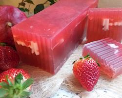 Sabonete anti-irritação da pele, frutos vermelhos
